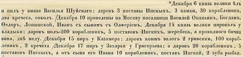 Софийская вторая летопись, 1476. Откровенные поборы и вымогательства московитом