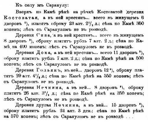 О налогах крестьян окрест Вятки, 1621  – ч.1 // Дозорная книга Осипа Зюзина да подъячего Терентья Матвеева, 7129 г. от СМ [20.53] ч.2.