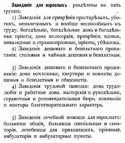 Категории благотворительных заведений для детей, Российская Империя, 1900 [19.39]