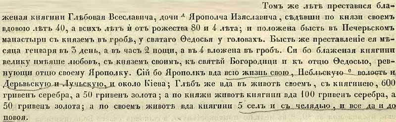 Ипатьевская летопись, 1158. Подарок Печерскому монастырю