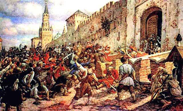 Соляной бунт на Красной площади, 1648 г.  Худ. Э. Лисснер, 1938,   http://ic.pics.livejournal.com/pro100_mica/12814609/2327965/2327965_640.jpg