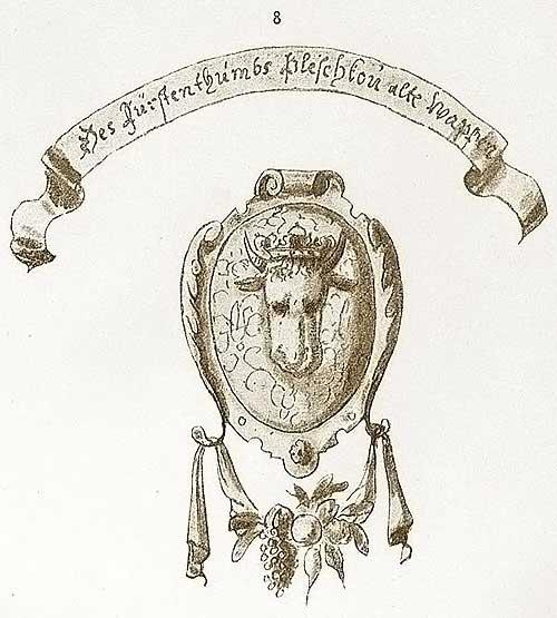 Альбом Мейерберга, 1662-63 Древний герб Пскова