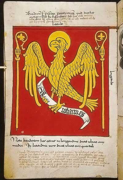 Рыцарские ордена. Прусские знамена 1410-1431: Знамя епископа Помезанского