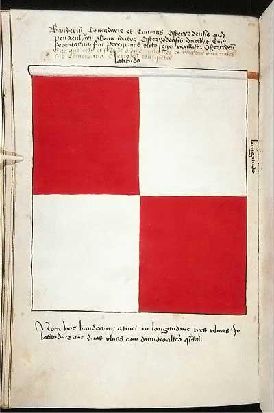 Рыцарские ордена. Прусские знамена 1410-1431: Знамя комтурства и города Остероде