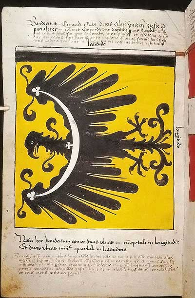 Рыцарские ордена. Прусские знамена 1410-1431: Знамя Конрада, герцога Силезского