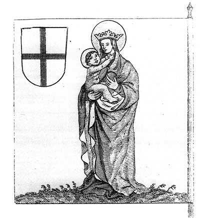 Рыцарские ордена. Прусские знамена 1410-1431: Знамя магистра Ливонского ордена