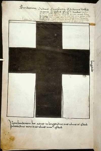 Рыцарские ордена. Прусские знамена 1410-1431: Знамя маршала Пруссии Фридриха Валленроде