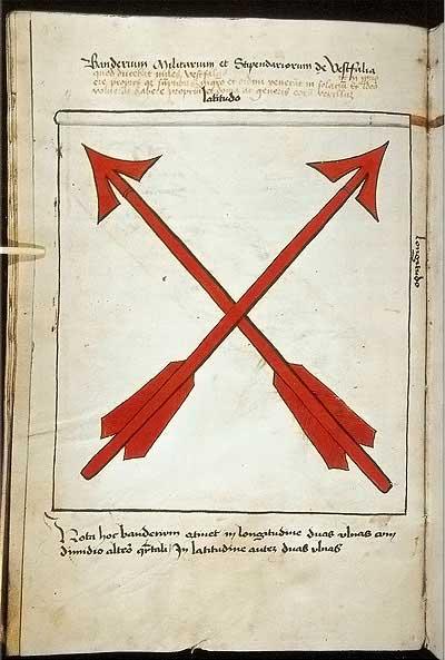 Рыцарские ордена. Прусские знамена 1410-1431: Знамя рыцарей из Вестфалии