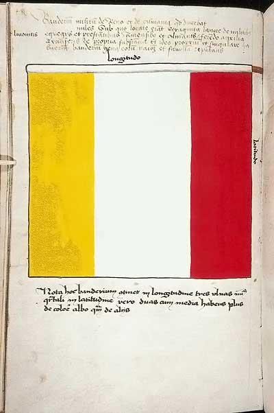 Рыцарские ордена. Прусские знамена 1410-1431: Знамя рыцарей с Рейна и из Аламании