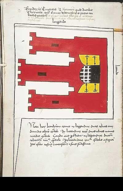 Рыцарские ордена. Прусские знамена 1410-1431: Знамя города Торн