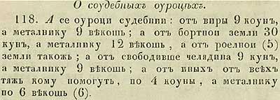 Русская Правда Ярослава. О судебных податях
