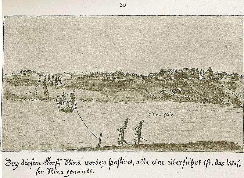 Альбом Мейерберга, 1661-62. Река Шлина