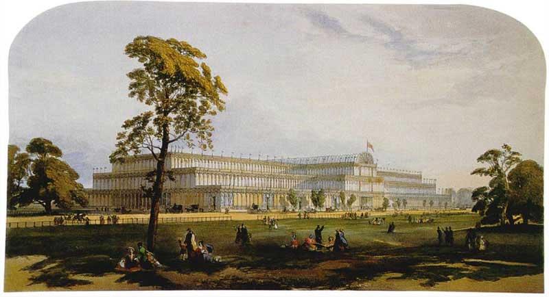 Хрустальный дворец. Лондон. Промышленная выставка 1851 года