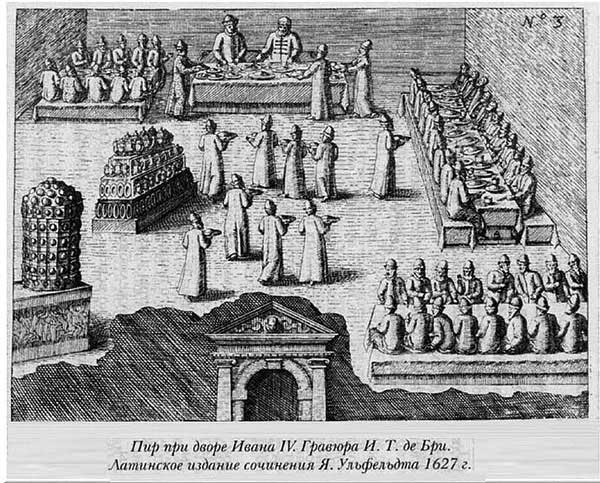 Якоб Ульфельд, 1578. Пир при дворе Ивана IV