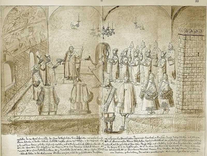 Альбом Мейерберга, 1661-62. В царской палате