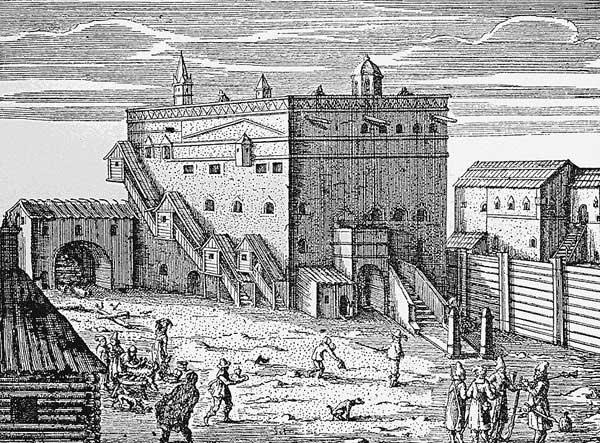 Адам Олеарий, 1634, 1636. Посольский двор в Москве. Источник [17.33]