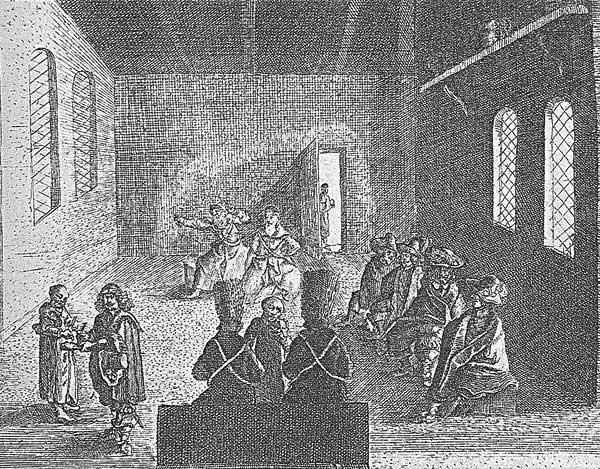 Адам Олеарий, 1634, 1636. Тайная аудиенция в посольстве. Источник [17.33]