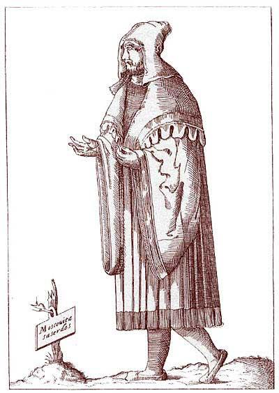 Русский священник XVI по источнику [16.27]. С итальянской гравюры, XVI