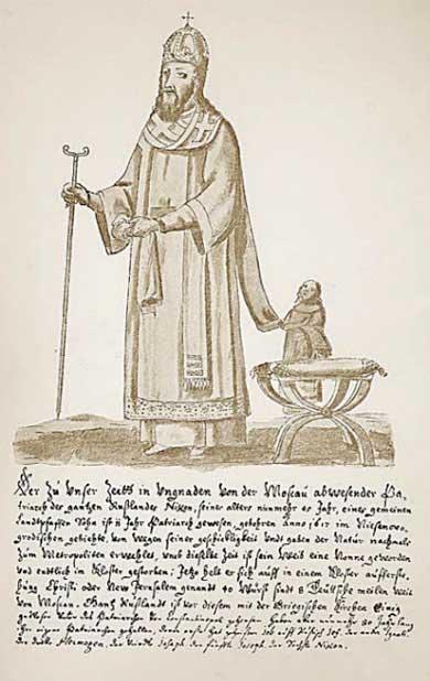 Альбом Мейерберга, Патриарх Никон в облачении