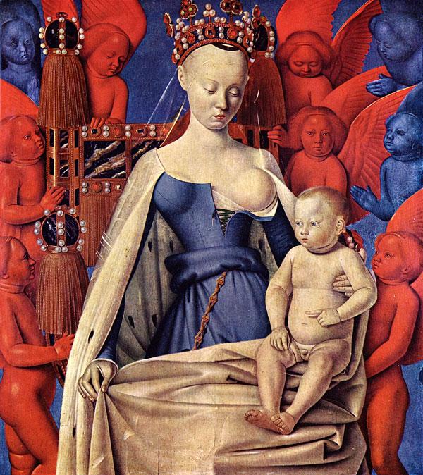 Жан Фуке. Дева Мария. Заимствовано из Википедии