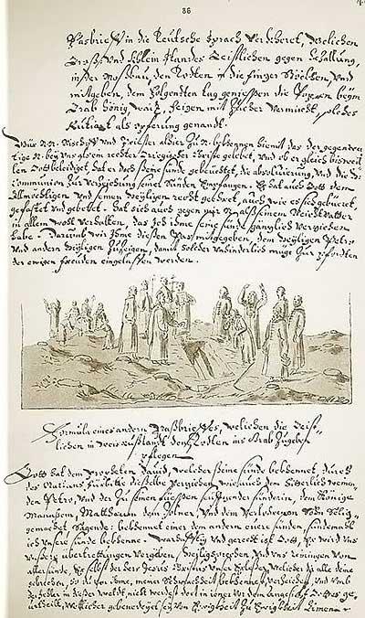 Альбом Мейерберга, 1661-1662. Обряд похорон в Московии