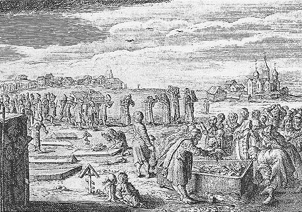 Похороны в Московии. Источник [17.33]