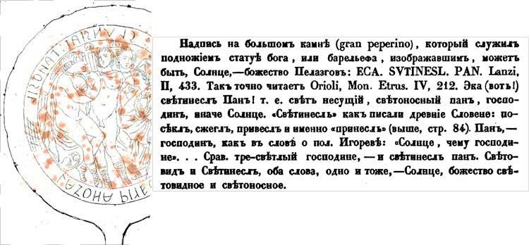 Надгробные надписи Этрурии (Этрусков) – 2