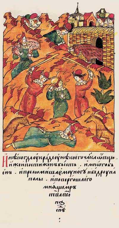 Лицевой летописный свод Ивана IV Грозного: О Тамерлане – фрагмент 4