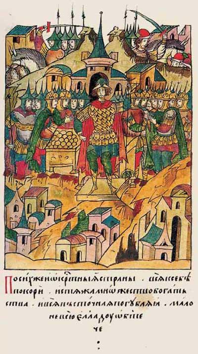 Лицевой летописный свод Ивана IV Грозного: О Тамерлане – фрагмент 8