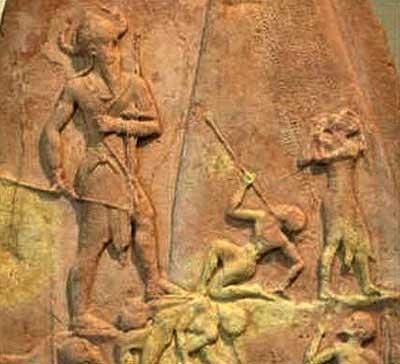 Шумер. Изображение Нарамсина на Стеле победы