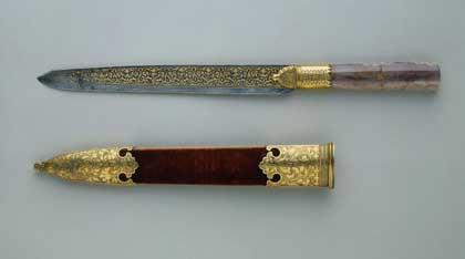 Нож с ножнами, Россия, 1598–1605.  Государственный Эрмитаж, http://www.hermitagemuseum.org