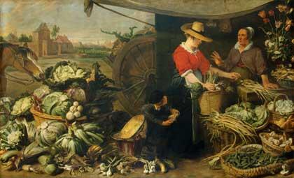 Овощная лавка, 1618–1621 // Франс Снейдерс, Фландрия. Государственный Эрмитаж; http://www.hermitagemuseum.org