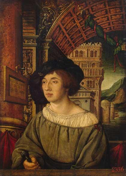 Портрет молодого человека, 1518 // Амброзиус Гольбейн; Германия; дерево, масло, темпера. Государственный Эрмитаж; http://www.hermitagemuseum.org