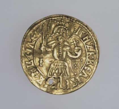 Дукат, 1477–1478 // золото, чеканка; диам. 2,4 см, вес 3,59 г.  Государственный Эрмитаж, http://www.hermitagemuseum.org