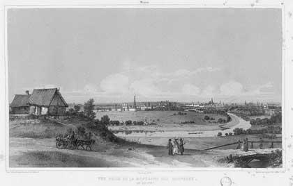 Андре Дюран. Москва. Панорама города, 1839