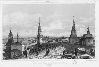 """Москва. Кремль – """"Сады Семирамиды"""", 1839 Андре Дюран"""