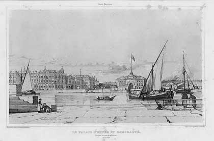 Альбом гравюр (заказ и финансирование – А.Н. Демидов). Санкт-Петербург. Набережная Невы, 1839