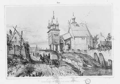 Андре Дюран. Тверь. Городской вид, 1839