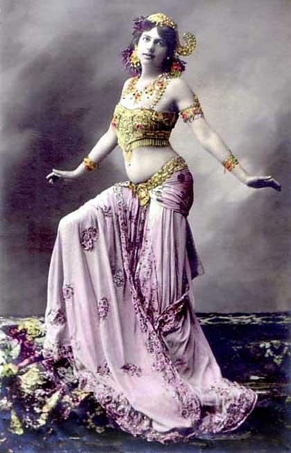 Мата Хари, стриптиз, Первая мировая война