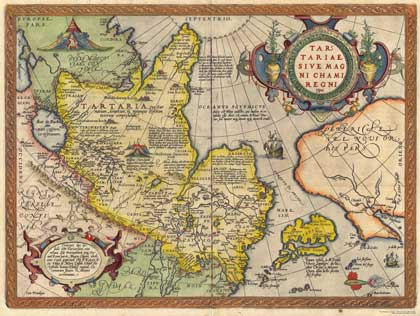 Карта России Ортелиуса, 1570