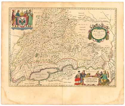 Карта России Исаака Массы, 1636. Сайт Петра Власенко, http://ua.vlasenko.net/