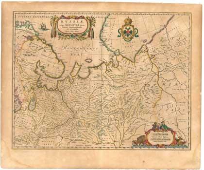 Россия, 1636. Карта Исаака Массы