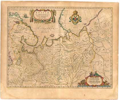 Россия, карта Исаака Массы, 1636. Сайт Петра Власенко, http://ua.vlasenko.net/