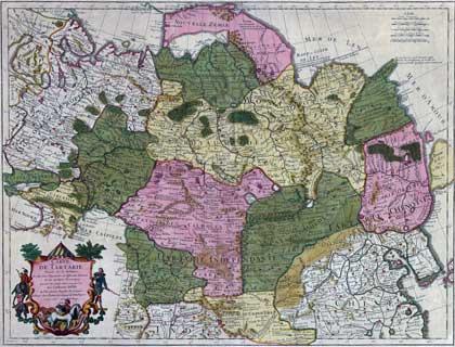Россия, 1706. Карта Гийома Делиля // Сайт Петра Власенко, http://ua.vlasenko.net/