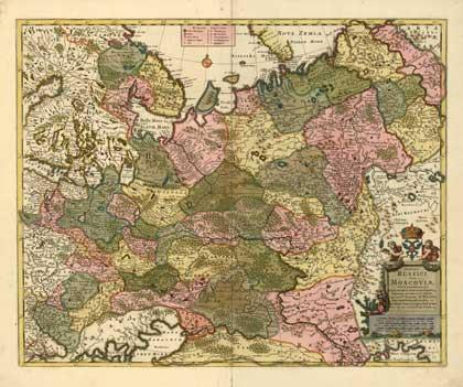 Россия, 1704. 1720. Карта Николаса Вишера // Сайт Петра Власенко, http://ua.vlasenko.net/