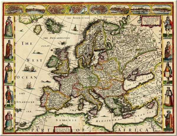 Карта Д. Спида, датированная i616 годом, то есть якобы 1616 годом, но, скорее, 616 годом от i, то есть от Рождества Христова.