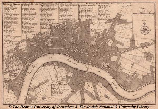 Лондон, 1700 // The Hebrew University of Jerusalem, http://historic-cities.huji.ac.il/